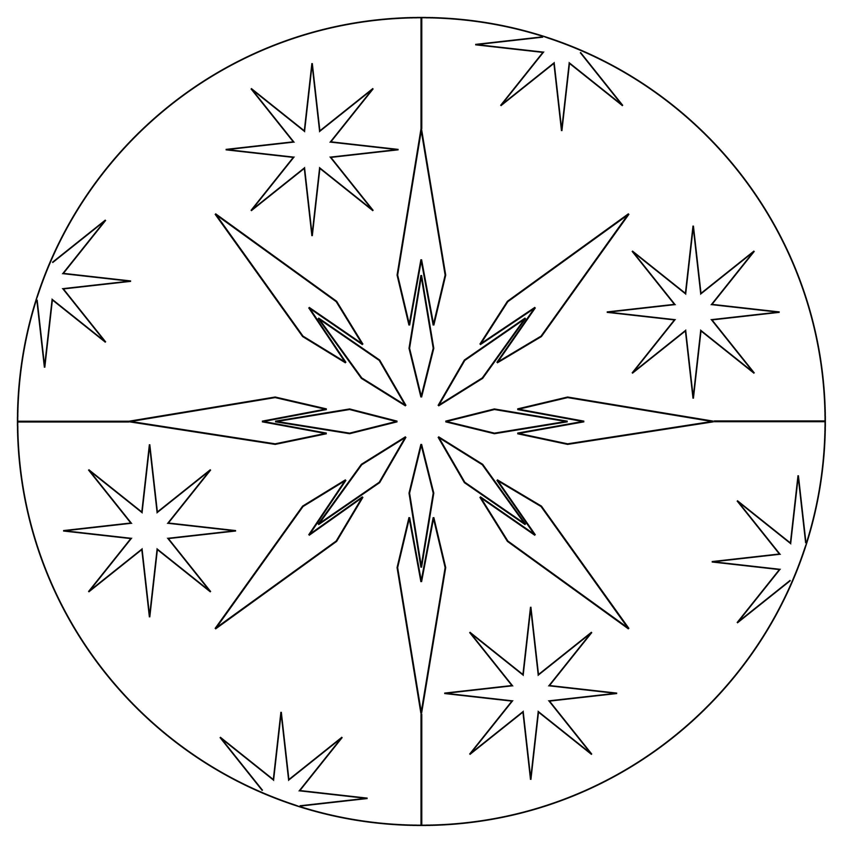 Ausmalbilder Winter Mandala : Kostenlose Mandalavorlagen Zum Herunterladen Mandala Vorlage