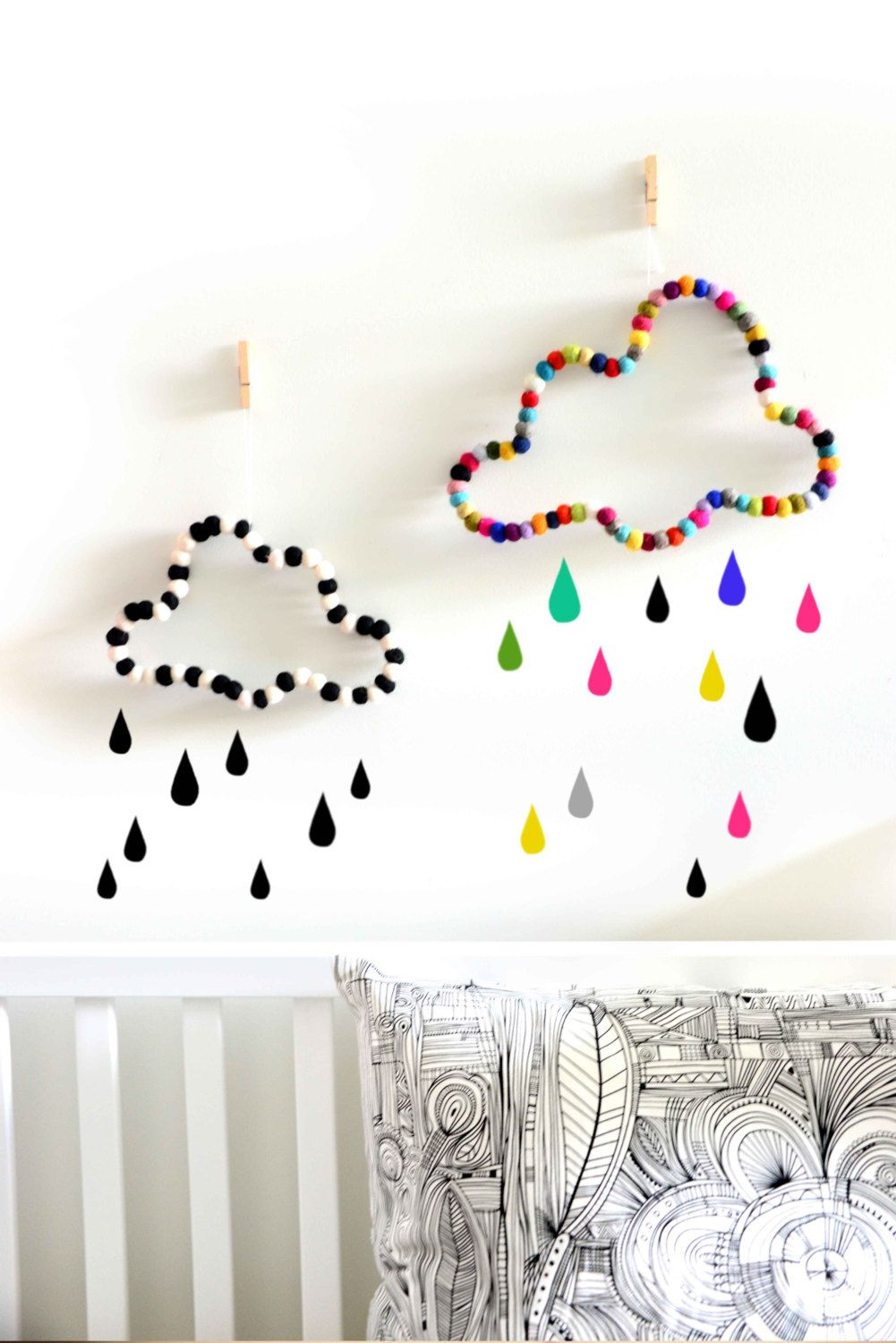 Cloud wall decor. Nursery decor. Kids room by StefCollections ...