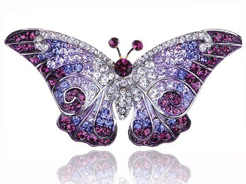 Empress Monarch Purple Winged Butterfly Swarovski Crystal Rhinestone Pin Brooch: http://www.amazon.com/Empress-Monarch-Butterfly-Swarovski-Rhinestone/dp/B005M8V10I/?tag=588bincom-20