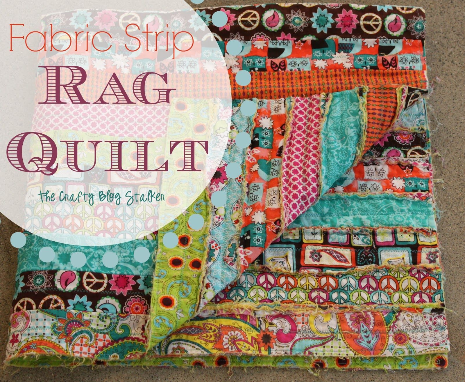 How To Make A Fabric Strip Rag Quilt Sewing Projects Pinterest