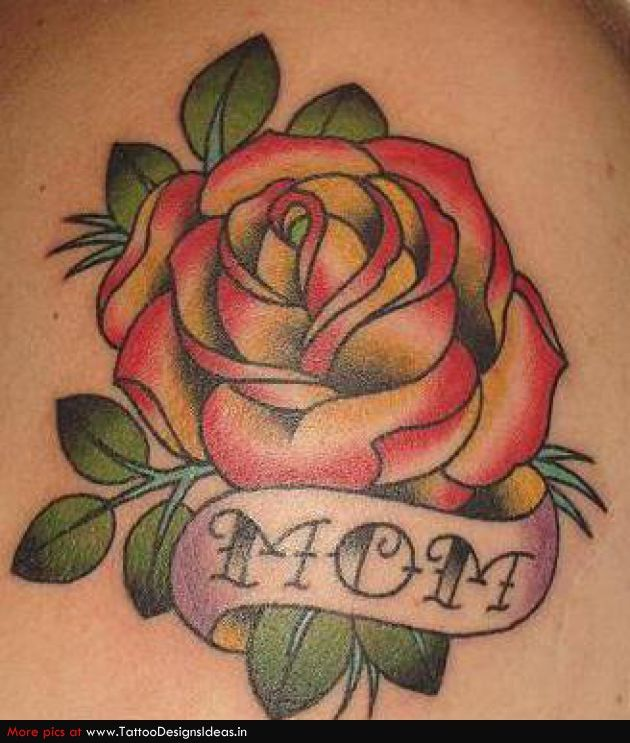 Men often get a rose tattoo and get mom inked in a ribbon to dedicate to their mothers - Signification nombre de roses ...