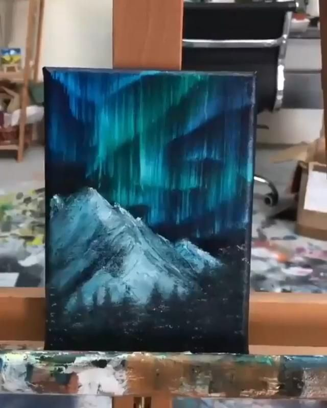 Hand-painted landscape abstract oil painting, abst