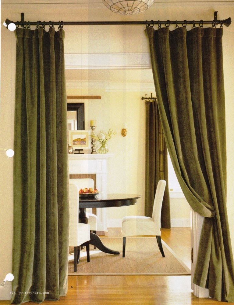 Another Curtain Idea To Separate But Not Divide Rooms Bhg Magazine Living Room Divider Room Divider Curtain Portable Room Dividers