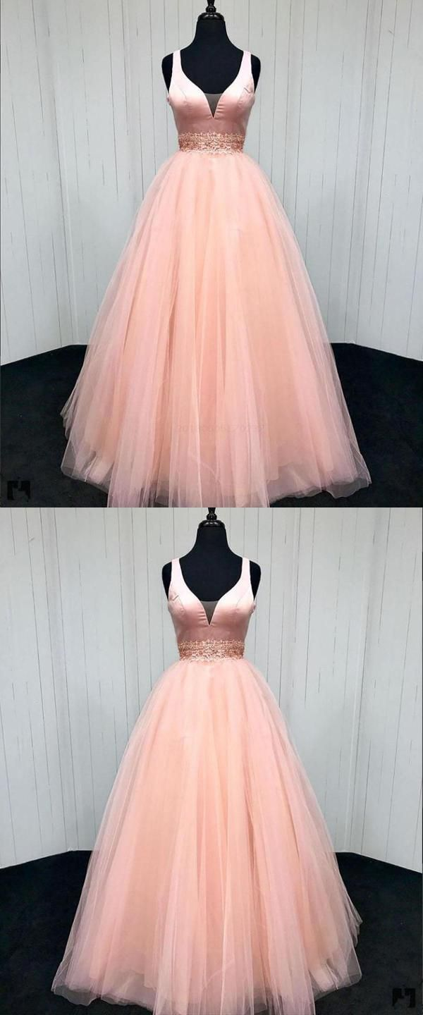 Aline pink qprom puffy dresses for party pinterest