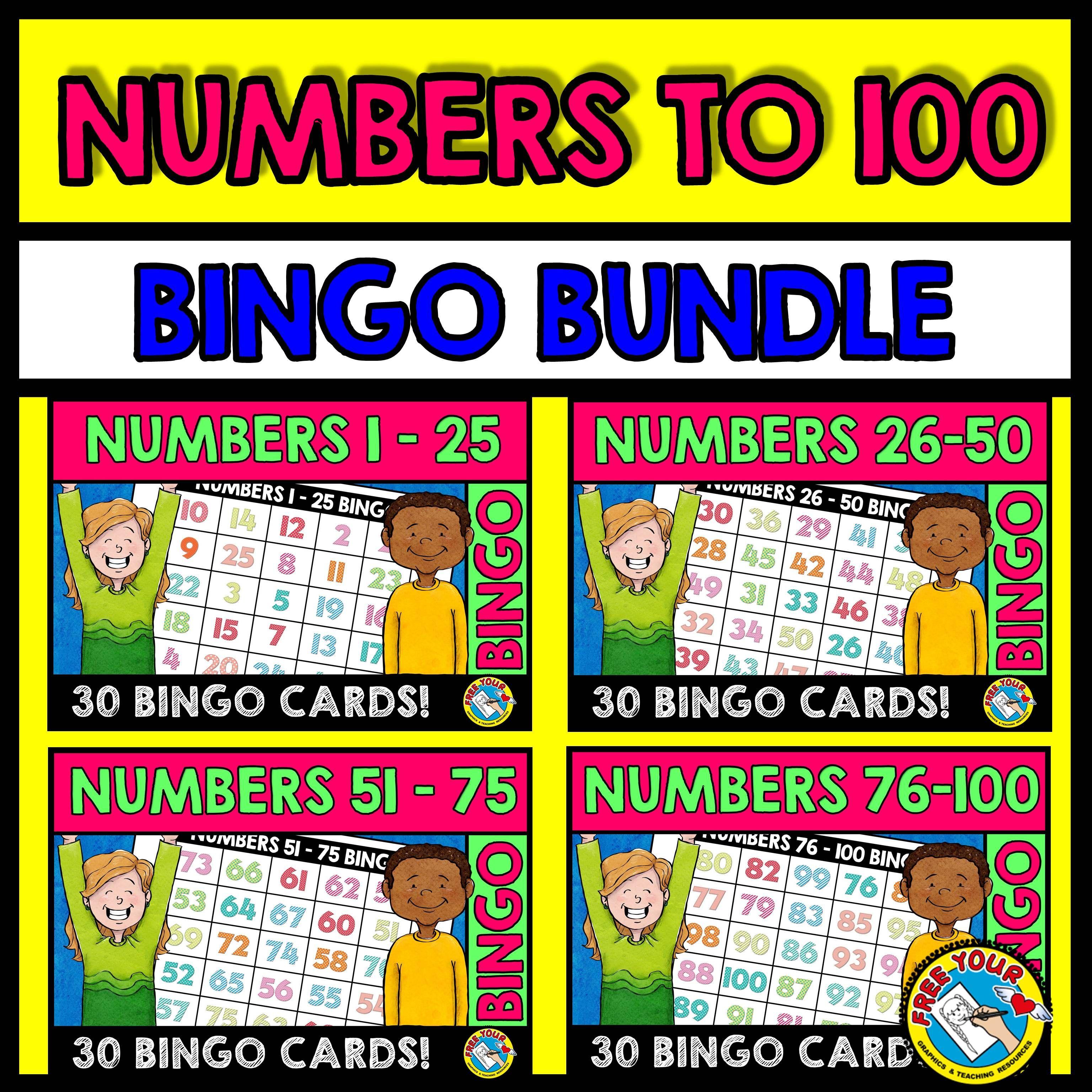 Numbers to 100 bingo bundle (number recognition activities) | Bingo ...