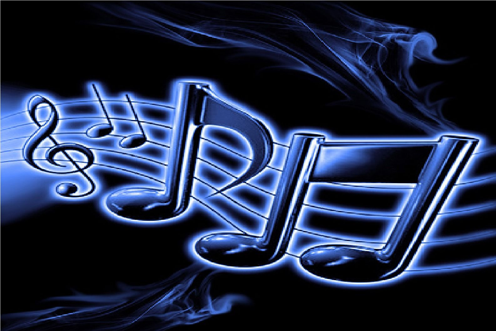 Neon Music Notes Wallpaper: Neon Music Notes Background