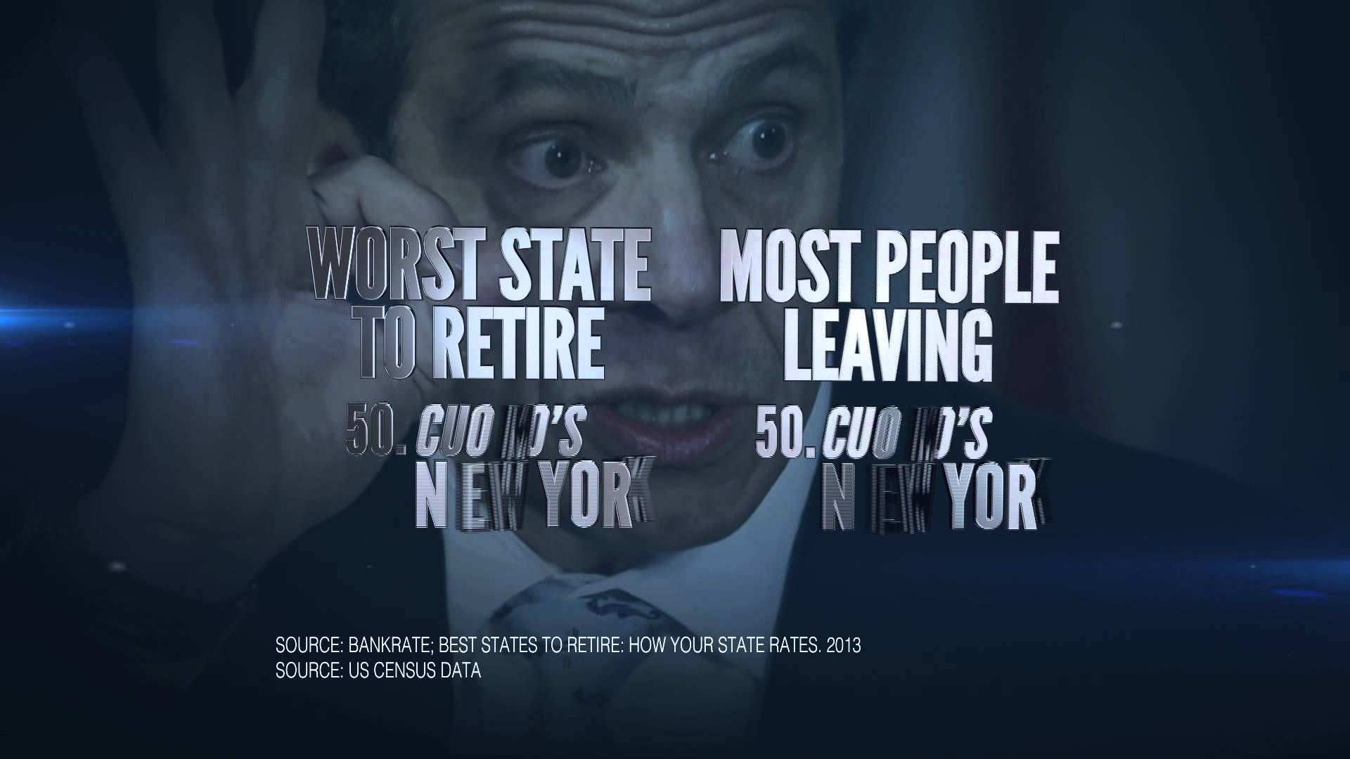 "NYGOP TV Ad ""Cuomo's New York"" Tv ads, Ads, New york"