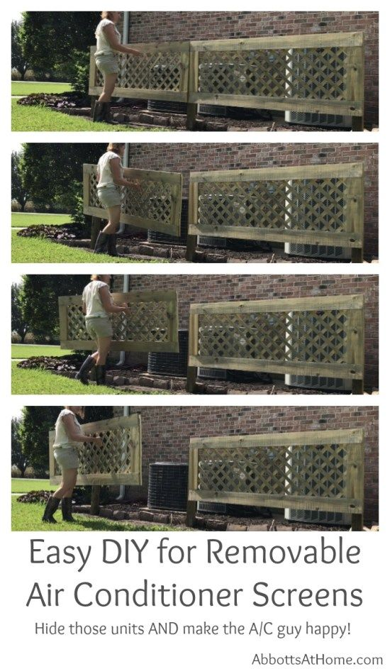 DIY Removable AC Screen or Removable Fence Panel Air