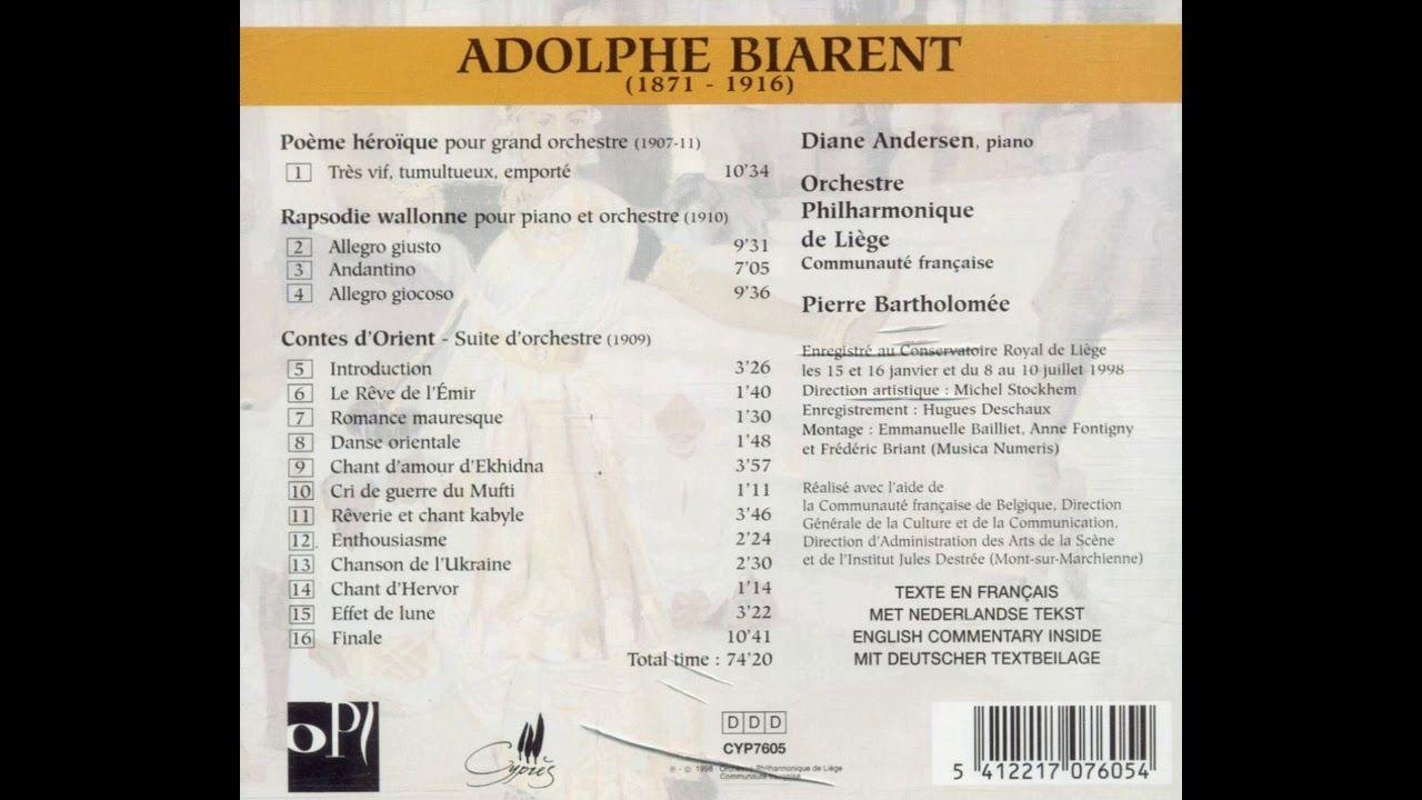 Adolphe Biarent Poème Héroïque Pour Grand Orchestre