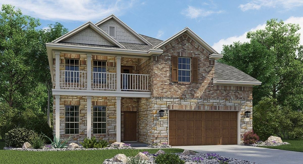 Love this brick and stone lennar home! New homes for