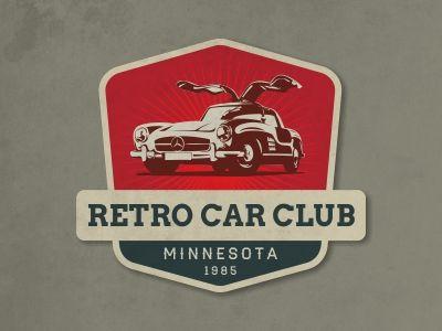 Retro Car Logo by gurhan canturk