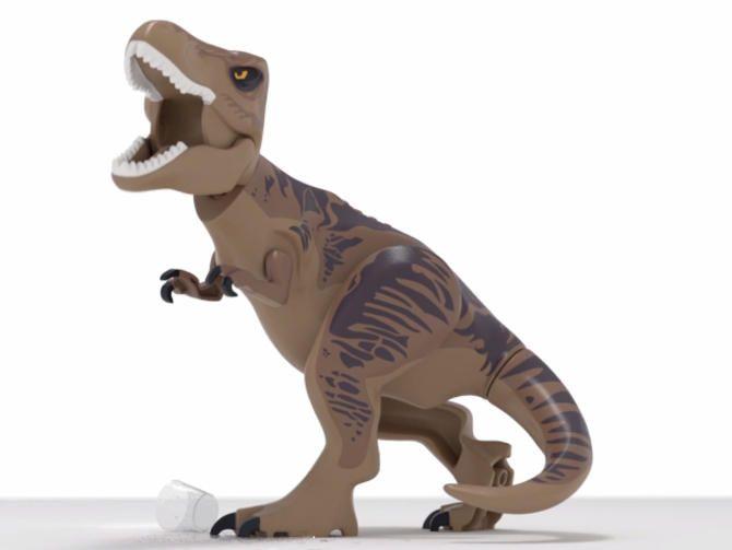 Meet Lego T. rex: Lego Jurassic World trailer is literally jaw ...
