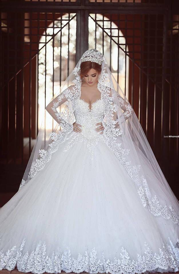 The Vale White Lace Wedding Dress Wedding Dresses Lace Ballgown Bridal Ball Gown