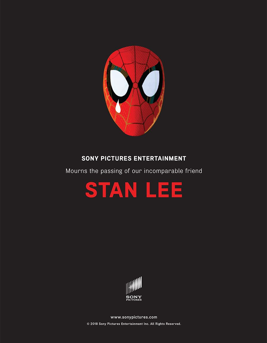 Stan Lee Honored By Avengers Stars In Tribute Ad Stan Lee Avengers Quotes Avengers Pictures