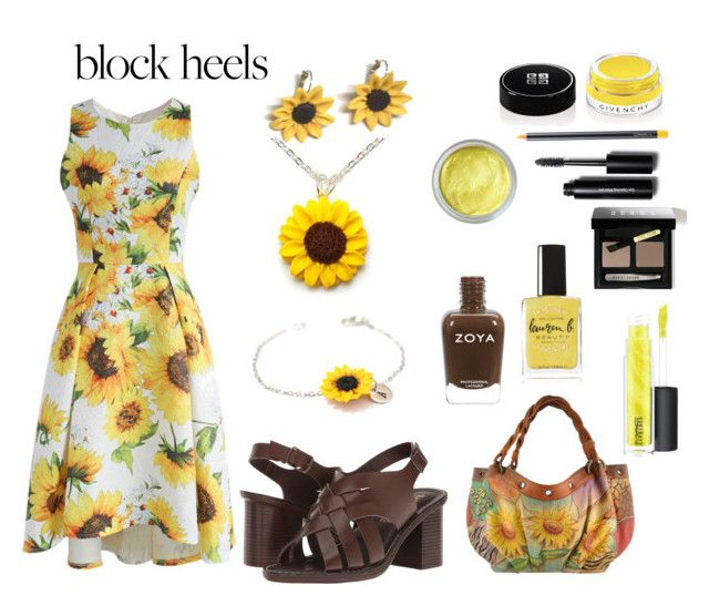 """""""Sunflower"""" by siriusfunbysheila1954 ❤ liked on Polyvore featuring Chicwish, Anuschka, Summer and Silver, Givenchy, Lauren B. Beauty, MAC Cosmetics, Bobbi Brown Cosmetics and Bella-Vita"""