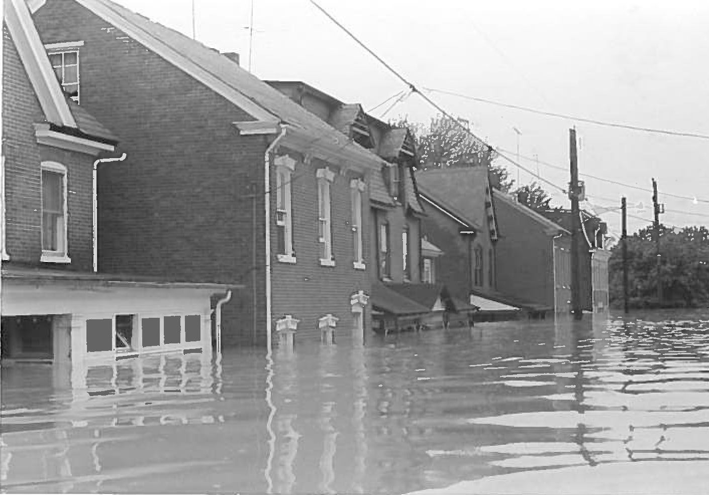Walnut Street In Pottstown Pa Flooded During Hurricane