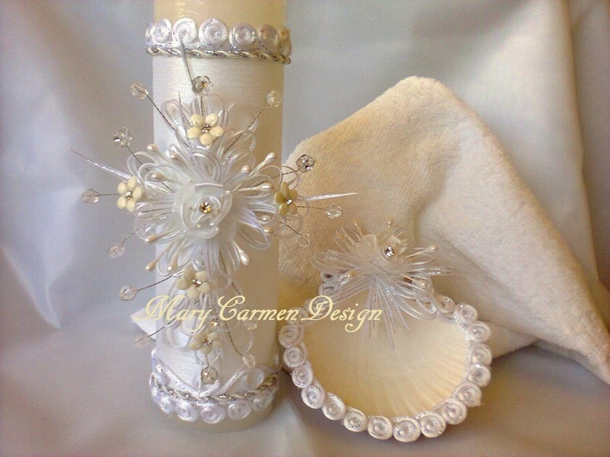 Velas para bautizo decoradas simple detalles para bautizo - Velas decoradas para bautizo ...
