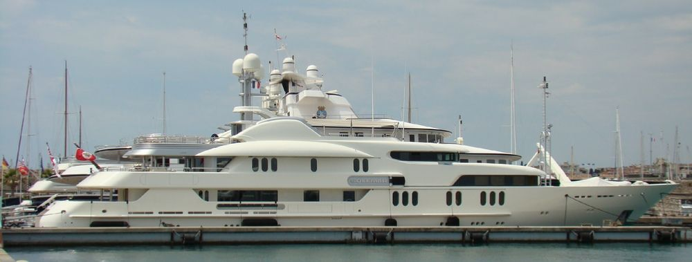 superyacht Solemar owned by Milkhail Prokhorov http://www.superyachtfan.com/superyacht_solemar.html