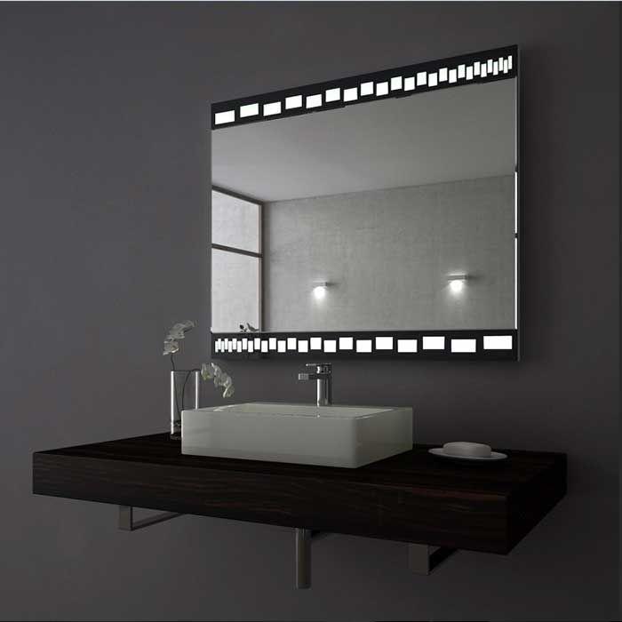 Badezimmerspiegel Mit Led Beleuchtung Rechteckig F C Bcr