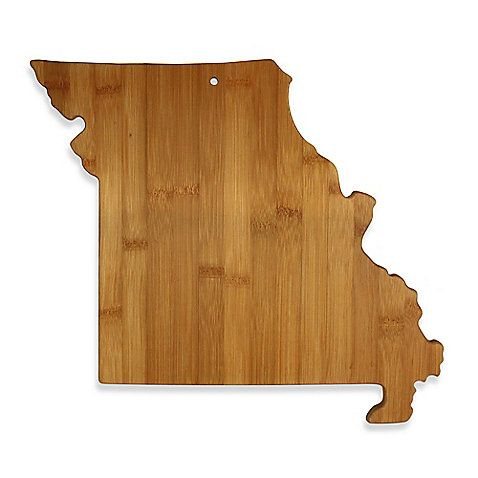 Totally Bamboo Missouri State Shaped Cutting Serving Board