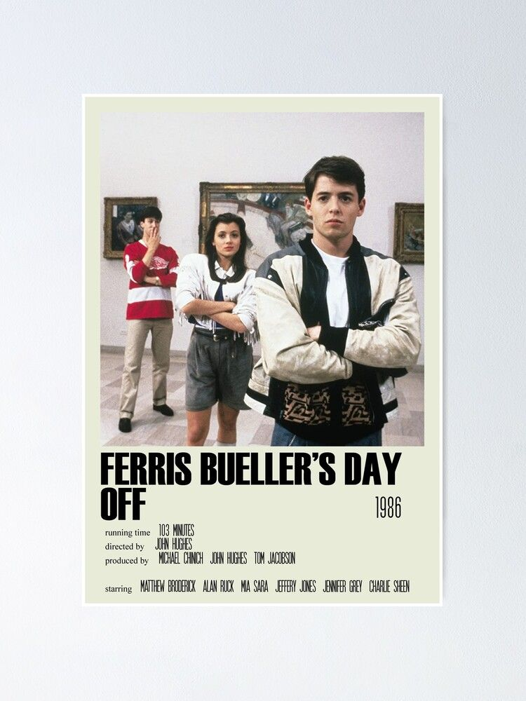 Ferris Bueller S Day Off Alternative Poster Art Movie Large 2 Poster By Designsbyelle In 2021 Movie Posters Minimalist Alternative Movie Posters Movie Card