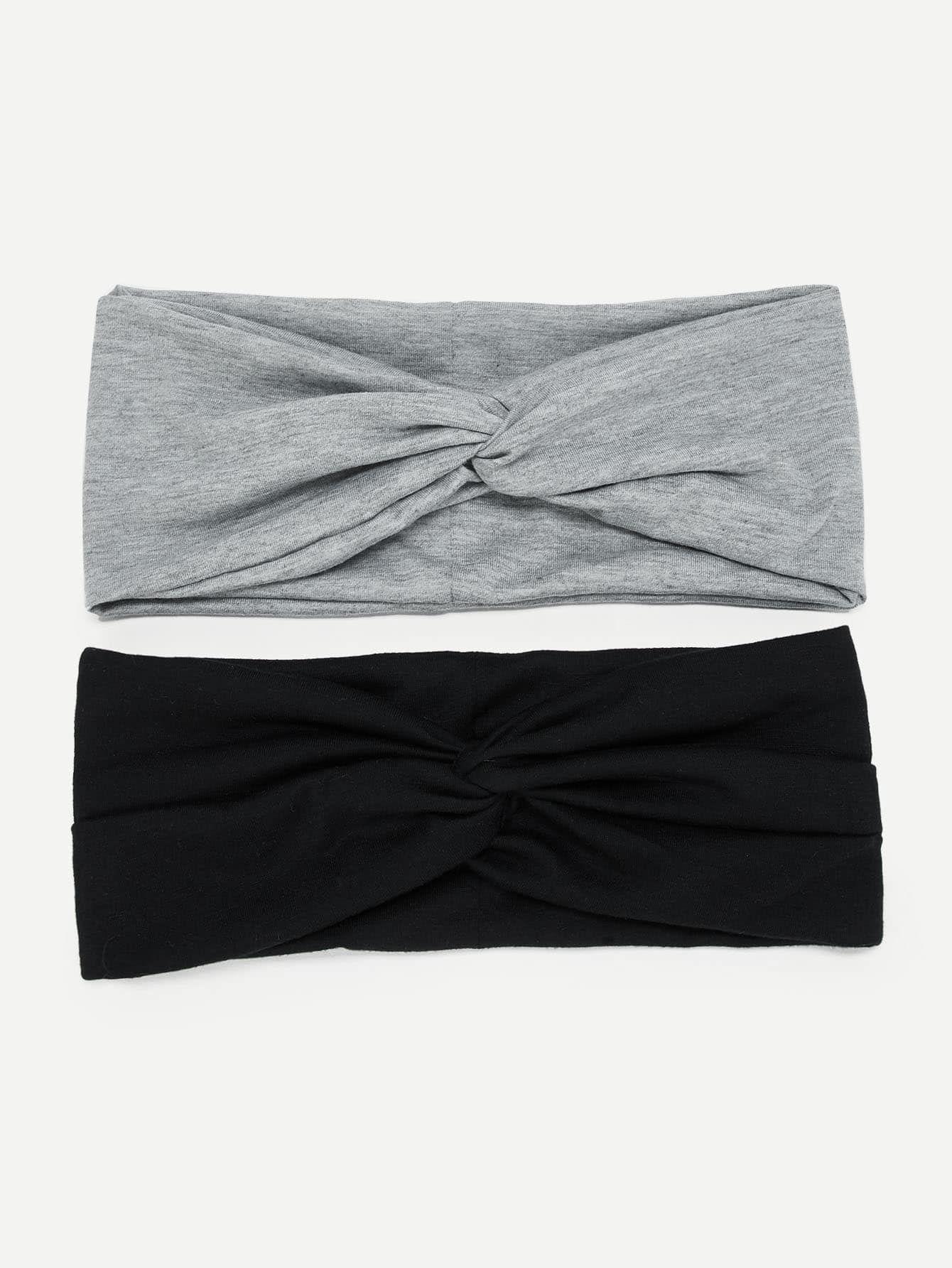 Ad plain twist headband 2pack tags multicolor twist