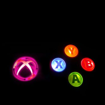 Xbox 360 Controller Led Light Up Buttons Kit Abxy Guide Pink