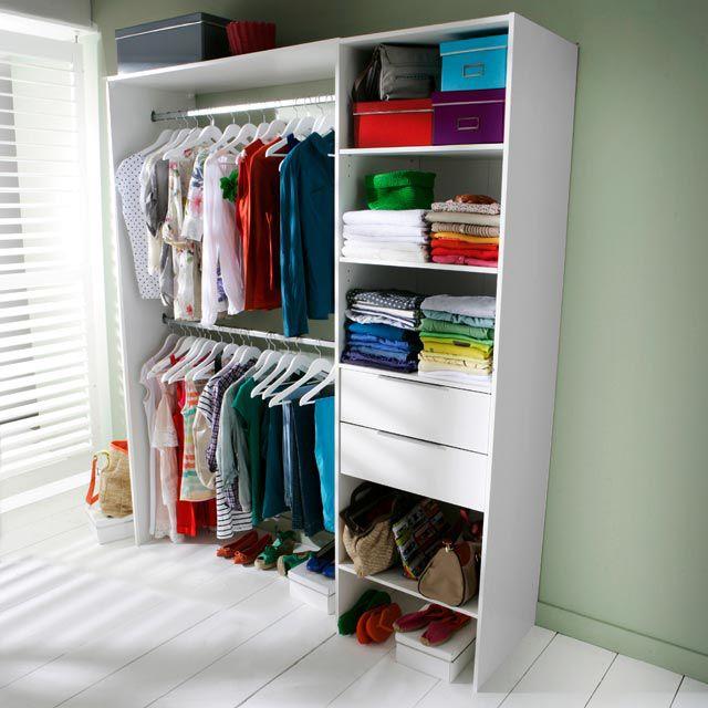 dressing tout en un 180 cm compoz ii blanc castorama. Black Bedroom Furniture Sets. Home Design Ideas