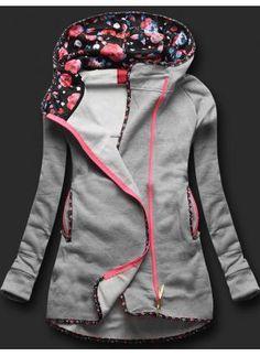 Sweatjacke Grau D130 Top Moda Moldes Fashion Jackets Active Wear For Women