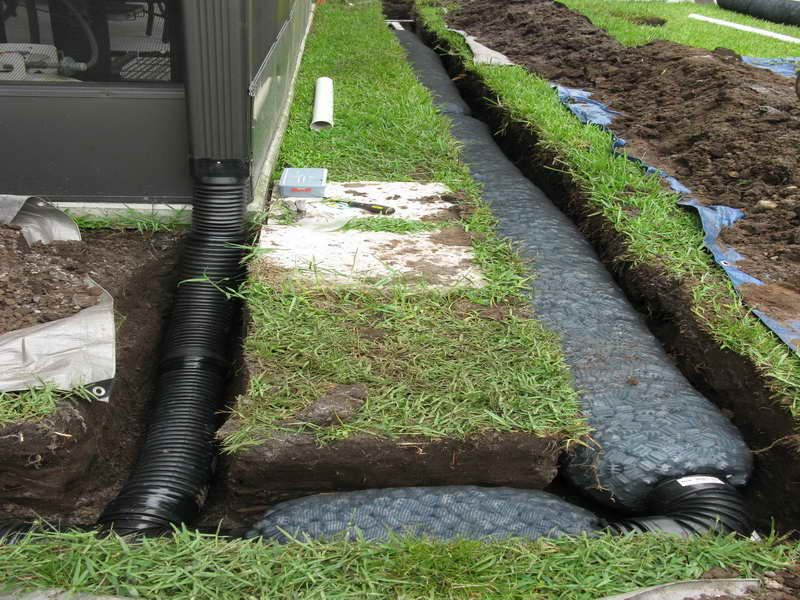 when an exterior french drain installation is necessary ideas for the house pinterest. Black Bedroom Furniture Sets. Home Design Ideas