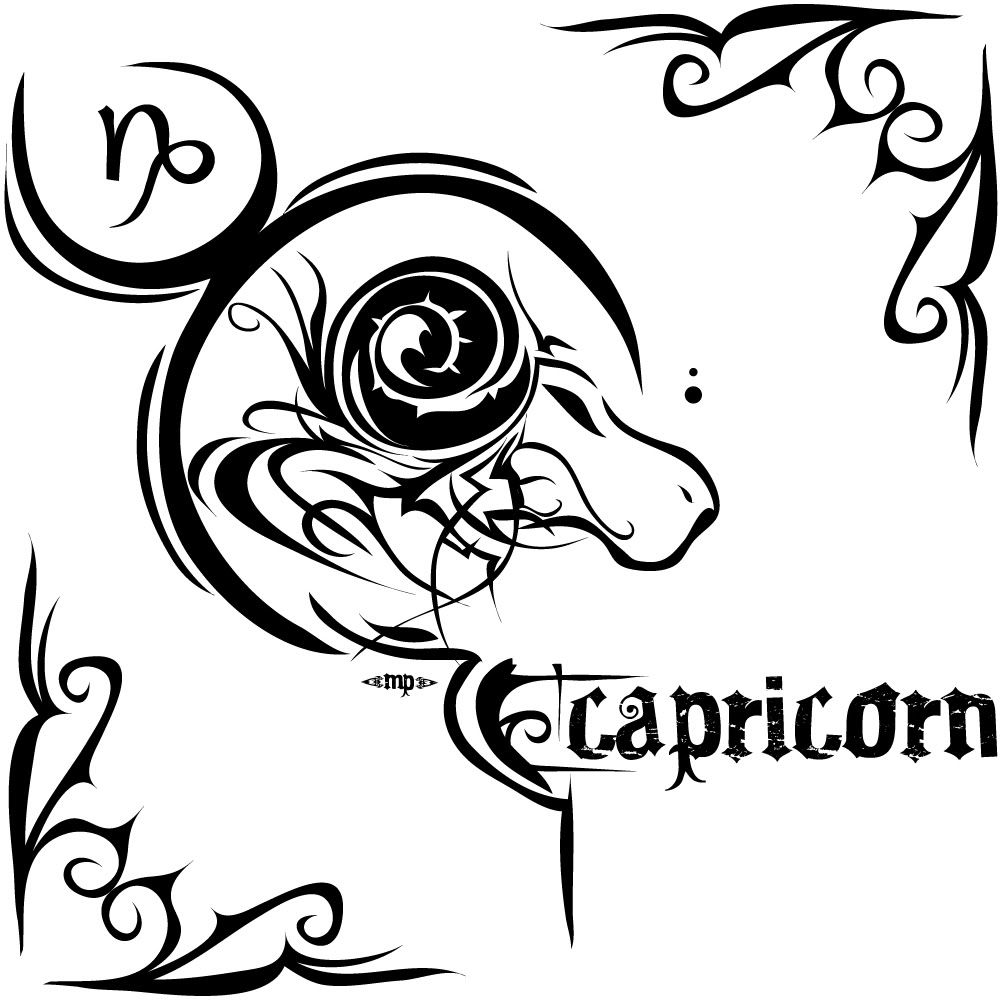 Capricorn Tattoo That I Can Possibly Use To Make Look Like My Sins