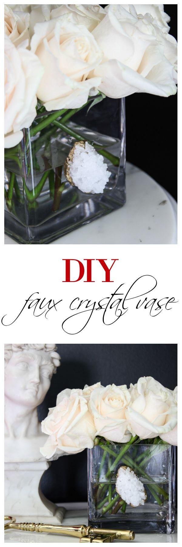 DIY Faux Crystal Vase #vaseideen