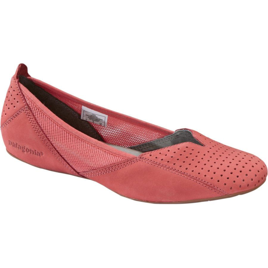 0ce616ab615a PATAGONIA Maha BALLET Perf FLAT Slip-On LEATHER Breathe SHOE Coral PINK  Women sz #