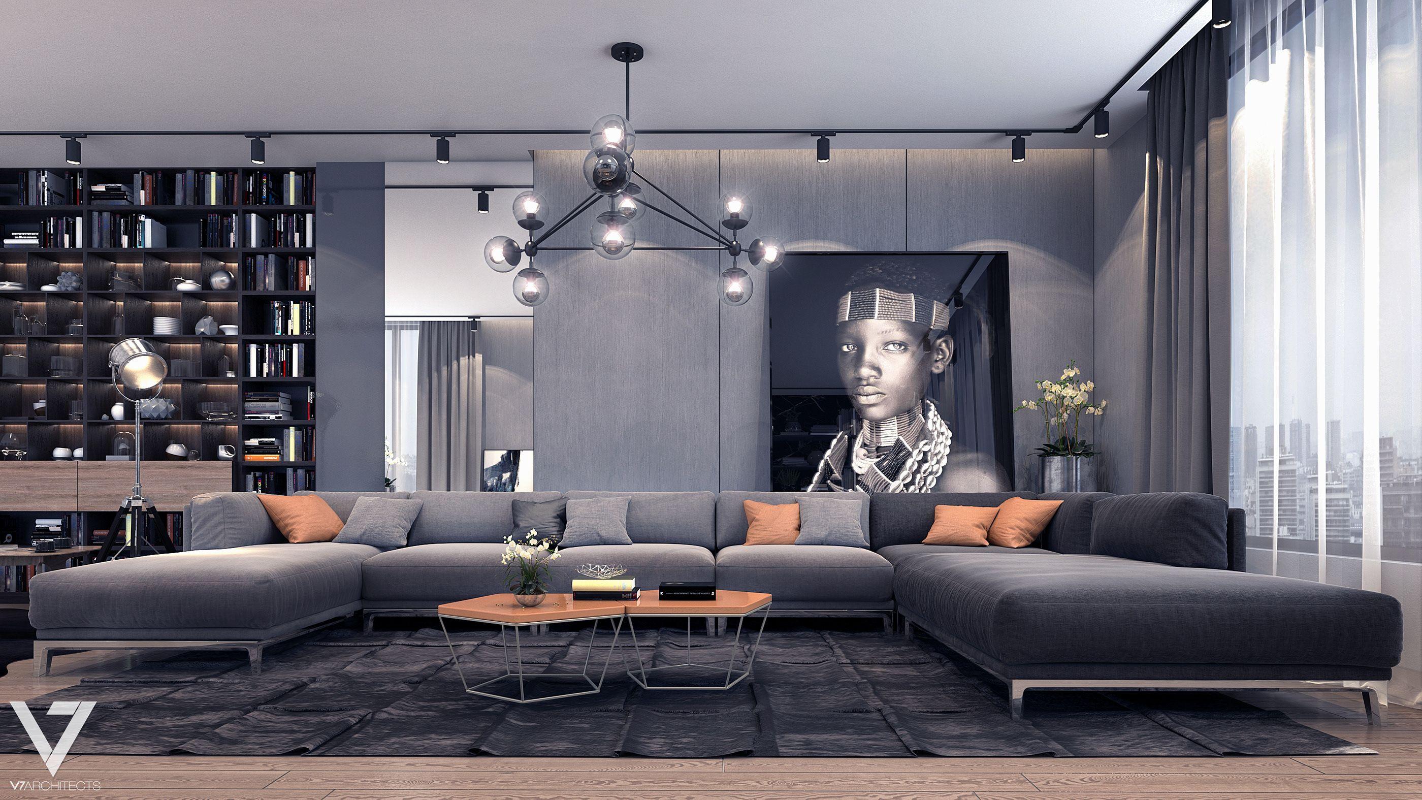 Loft Apartment in Cairo on Behance  Living room sofa design, Home