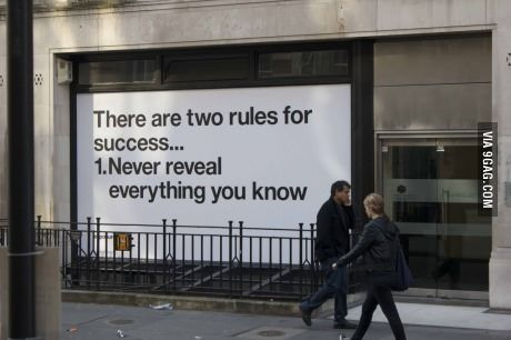 The two rules of success