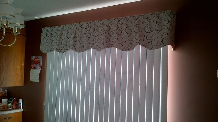 Fabric Valance For Vertical Blinds Curtains Blinds Ideas