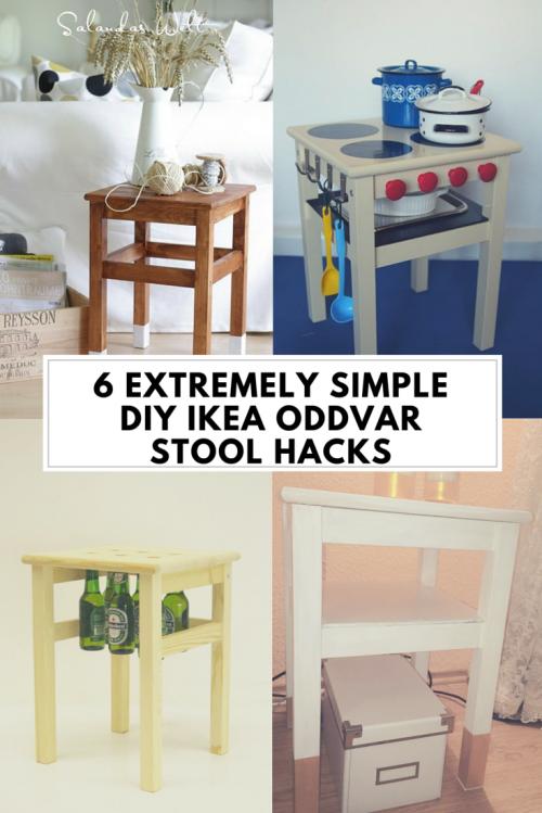 6 Extremely Simple Diy Ikea Oddvar Stool Hacks Shelterness