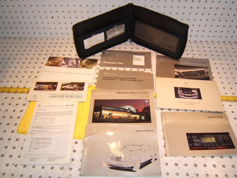Mercedes 1999 W210 E320/430/E300/55 Owner\u0027s Manuals 1 set of 10