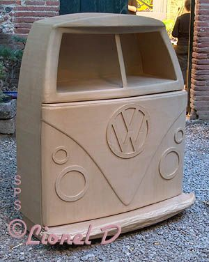 cartonnage d 39 un meuble bar combi vw carton meubles et objets pinterest meubles bar. Black Bedroom Furniture Sets. Home Design Ideas
