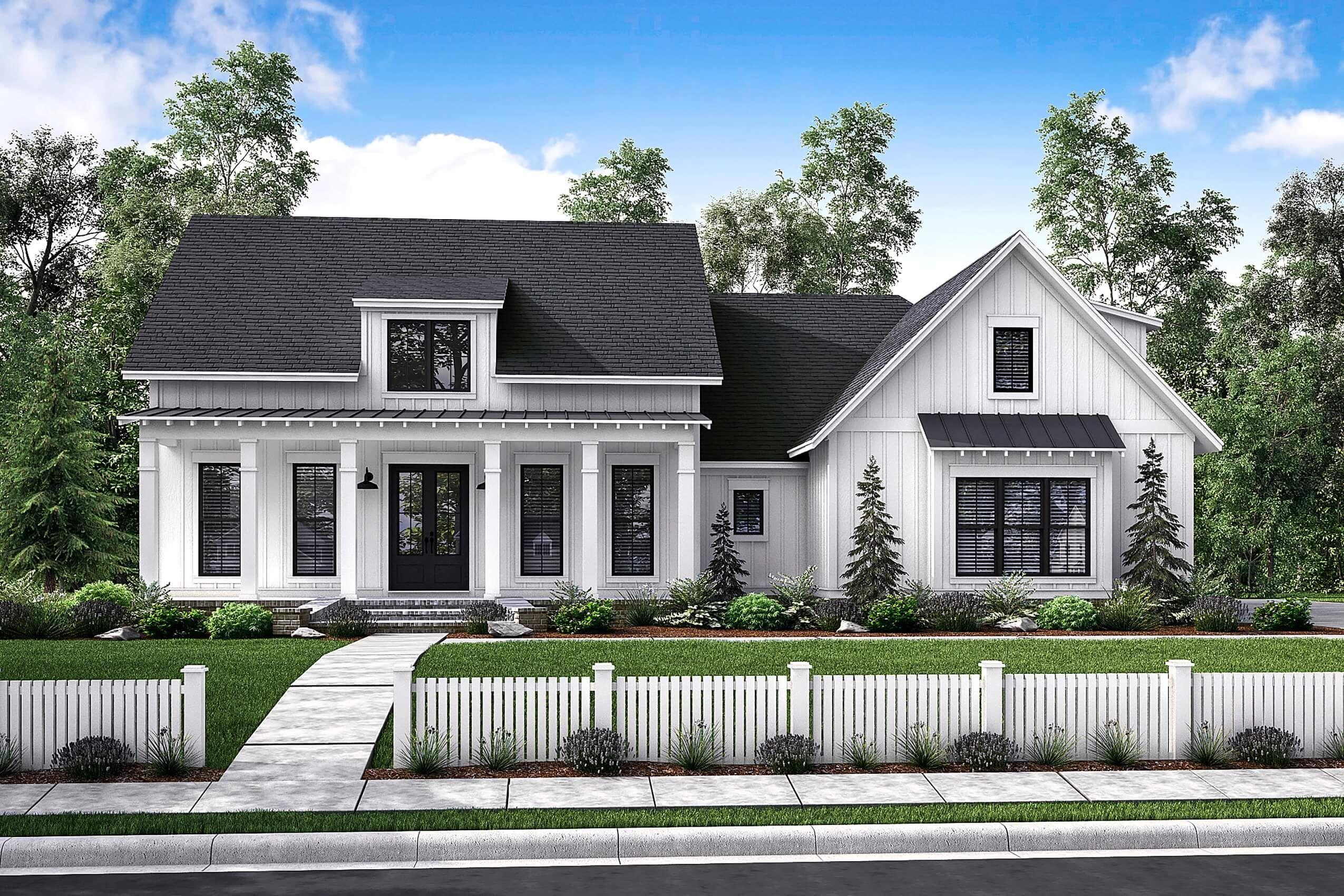 Highland Court Ii House Plan In 2020 Modern Farmhouse Plans Farmhouse Style House Modern Farmhouse Exterior