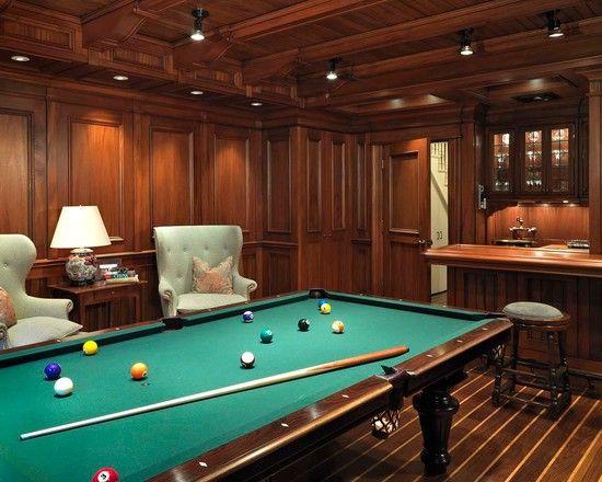Billiard Rooms Basement Design Ideas Pictures Remodel Decor