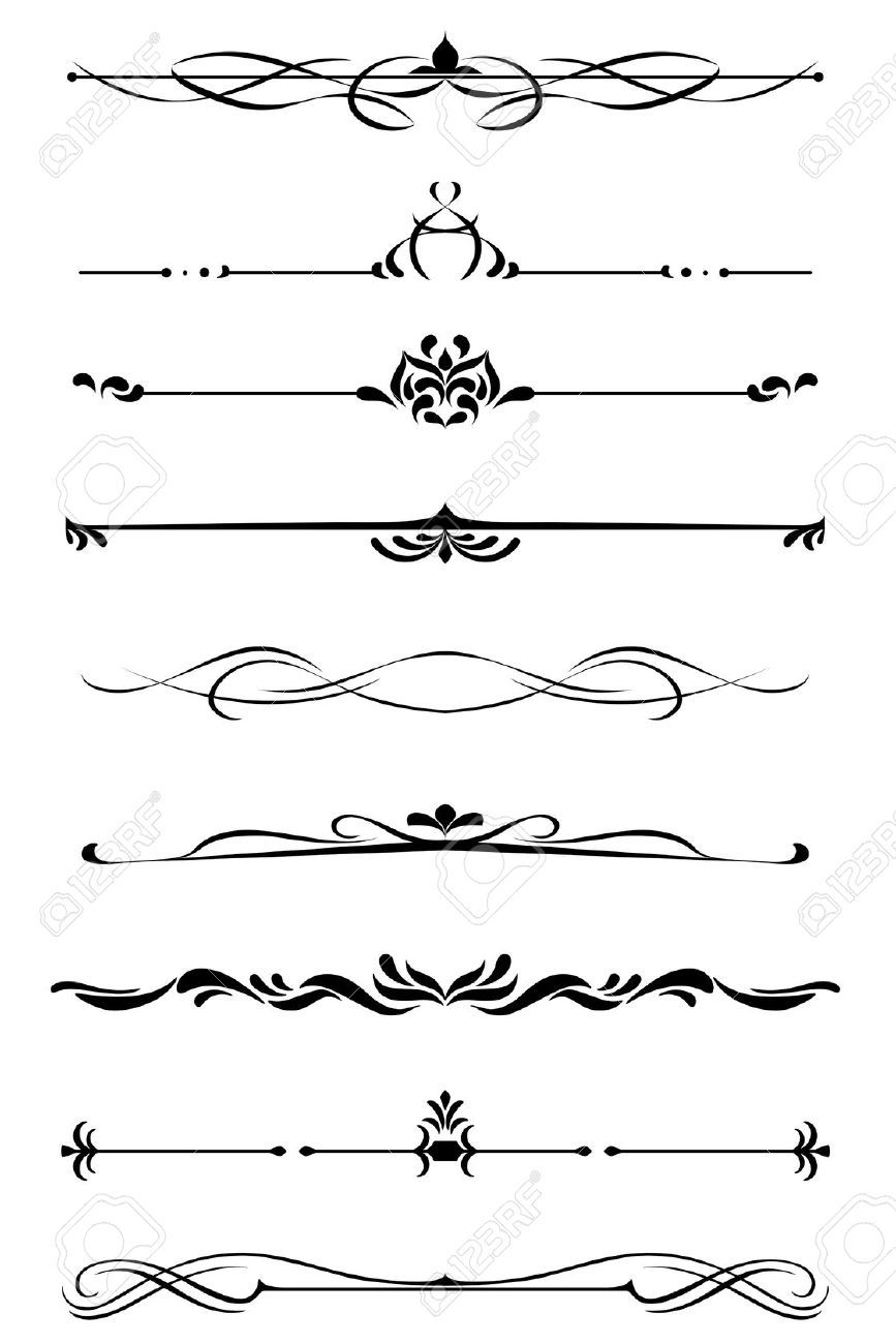 19560785-Dividers-and-borders-set-in-medieval-style-Stock-Vector ...
