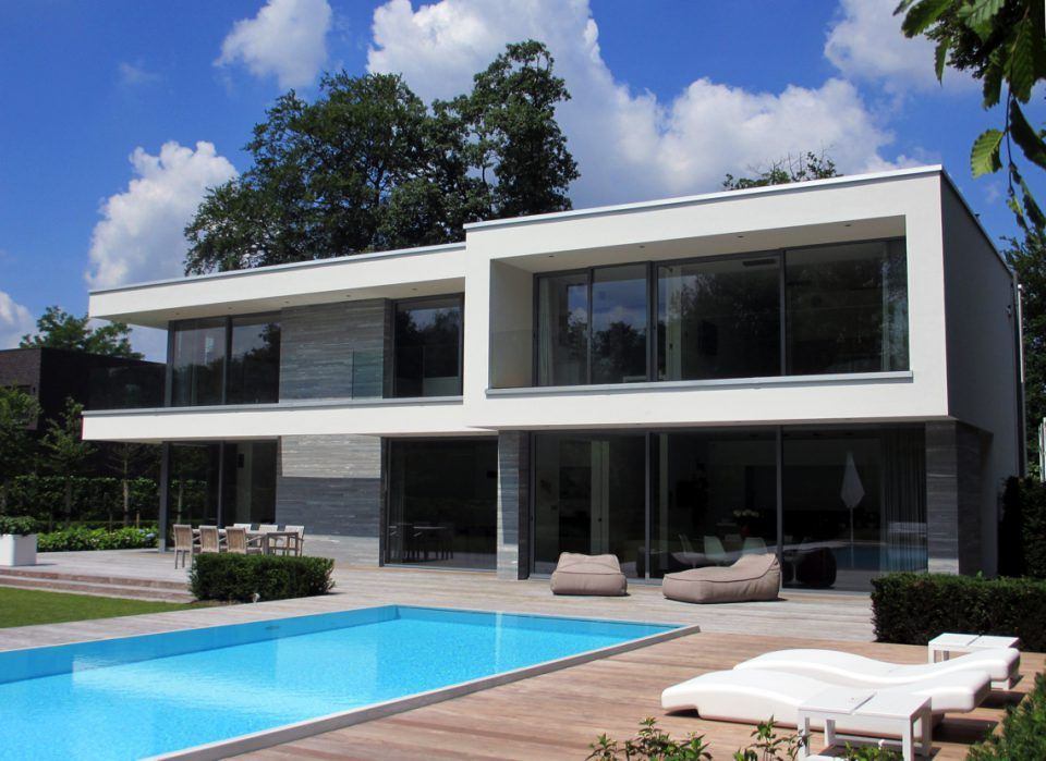 Moderne villa bouwen met zwembad house designs dream homes for Moderne semi bungalow bouwen