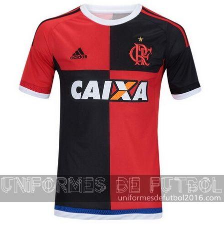 Jersey tercera para uniforme del Tailandia Flamengo 2016 | uniformes de futbol economicos
