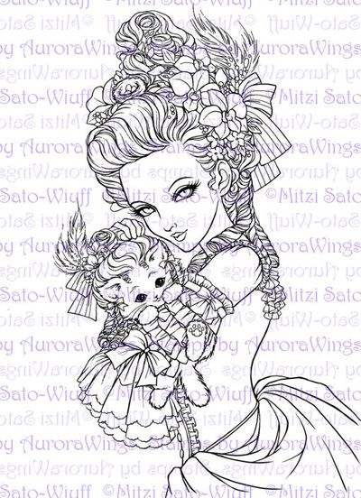 Coloring Book 2 - Aurora Wings - Fantasy Art of Mitzi Sato-Wiuff ...