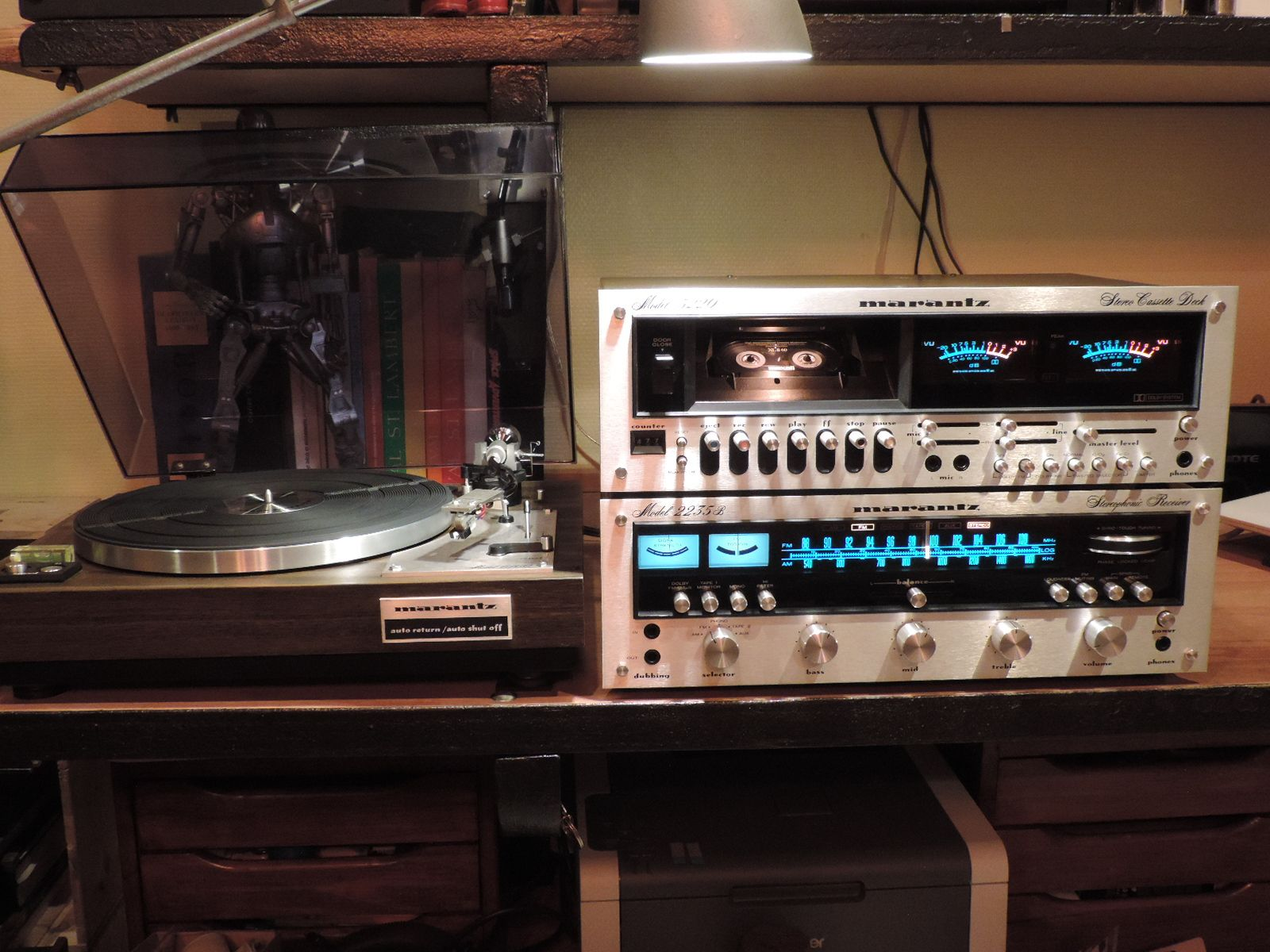 Marantz 6100 Turntable, 2235B Receiver and 5220 Tape Deck