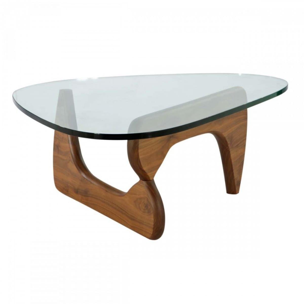 Noguchi Style Coffee Table Light Walnut 549 Free Shipping Wood