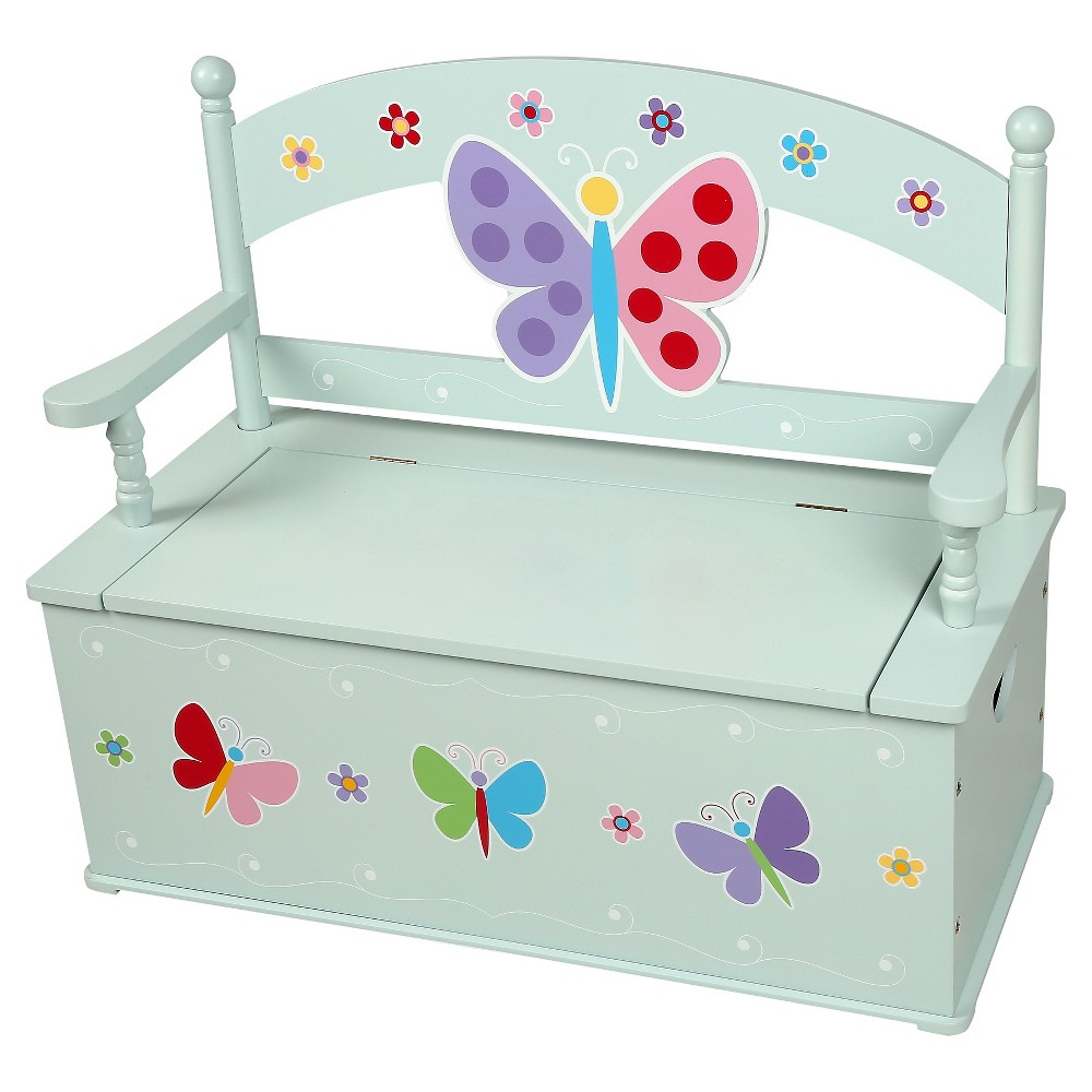 Olive Kids Butterfly Garden Storage bench seating