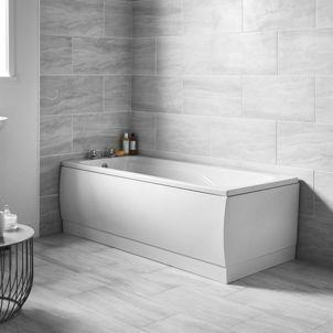 1700 x 700mm | wickes.co.uk | straight baths, bathroom