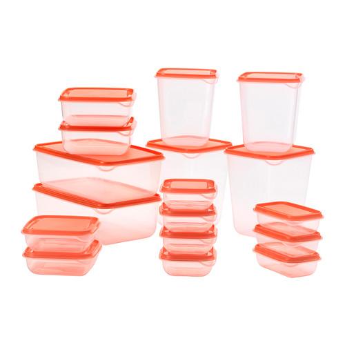Boîtes De Conservation 17 Pièces Pruta Transparent Orange